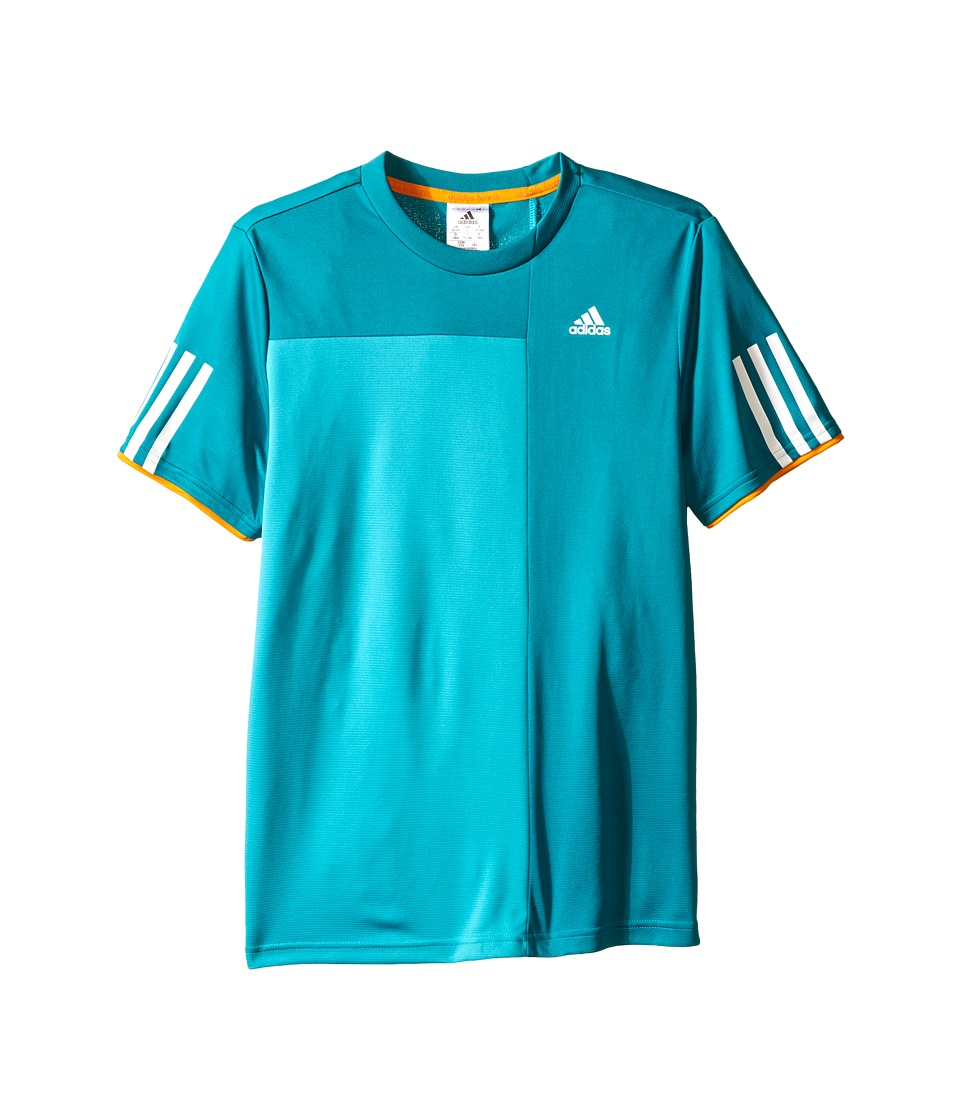 adidas Kids - Club Trend Tee (Little Kids/Big Kids) (Shock Green/EQT Green) Boy's Short Sleeve Pullover