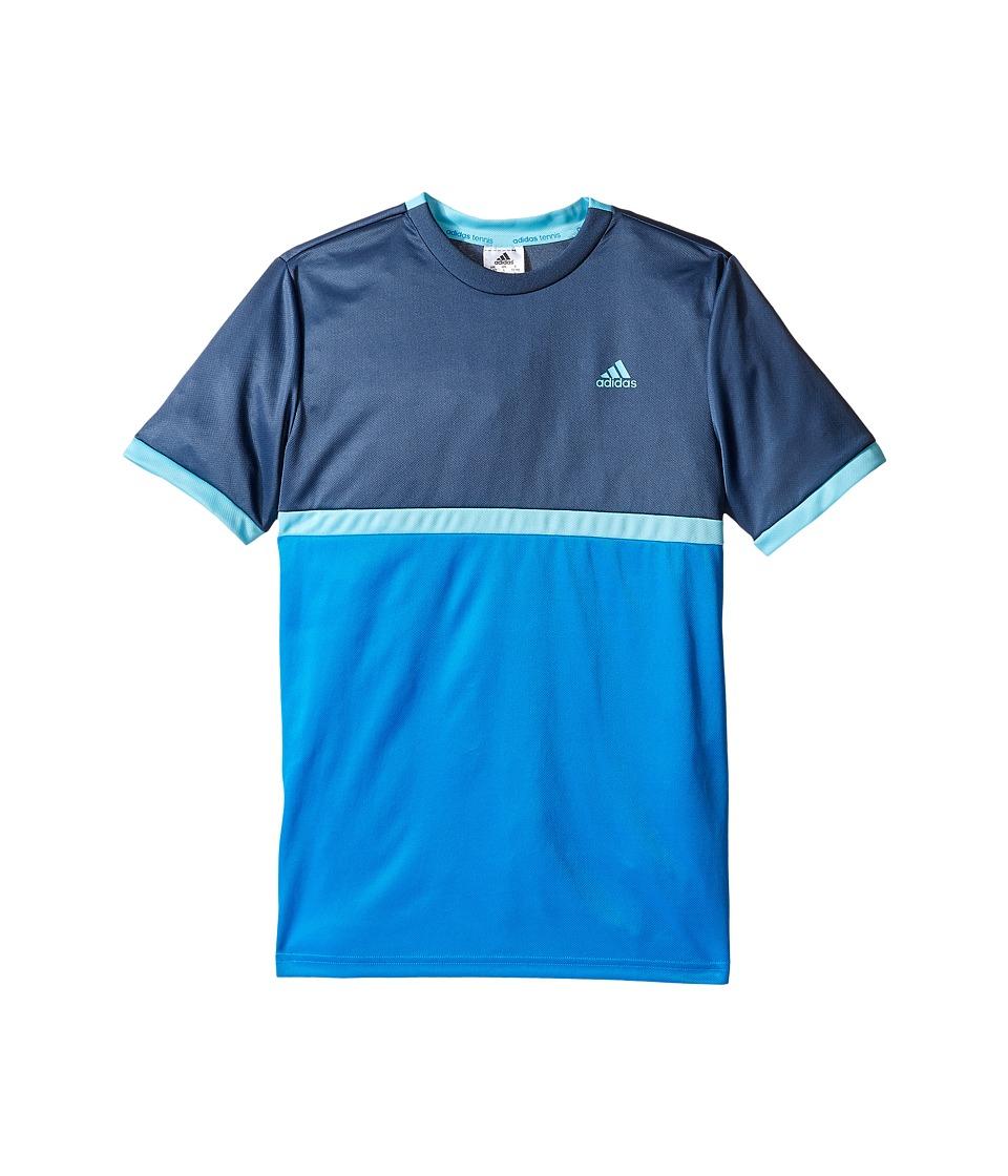 adidas Kids - Court Tee (Little Kids/Big Kids) (Shock Blue/Mineral Blue) Boy's T Shirt