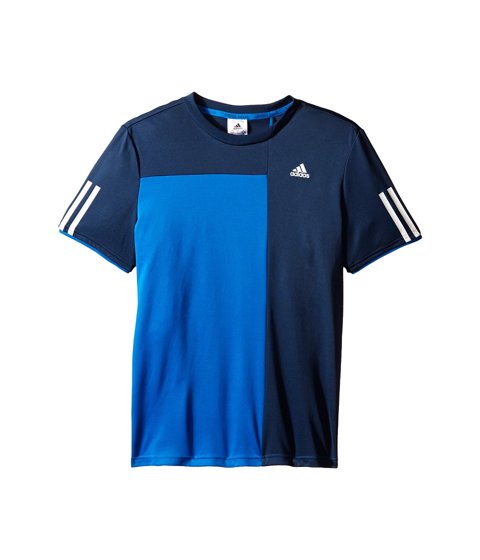 adidas Kids - Club Trend Tee (Little Kids/Big Kids) (Shock Blue/Mineral Blue) Boy's Short Sleeve Pullover