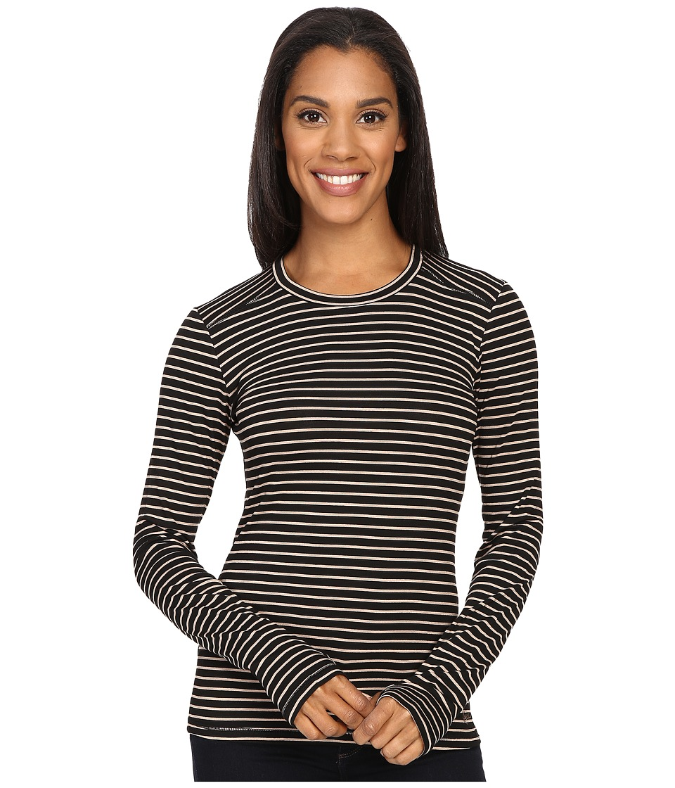KAVU - Candace Crew (Black/Tan) Women's Long Sleeve Pullover