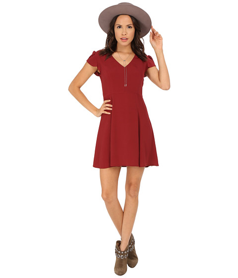 MINKPINK - The Little Things Tea Dress (Wine) Women's Dress