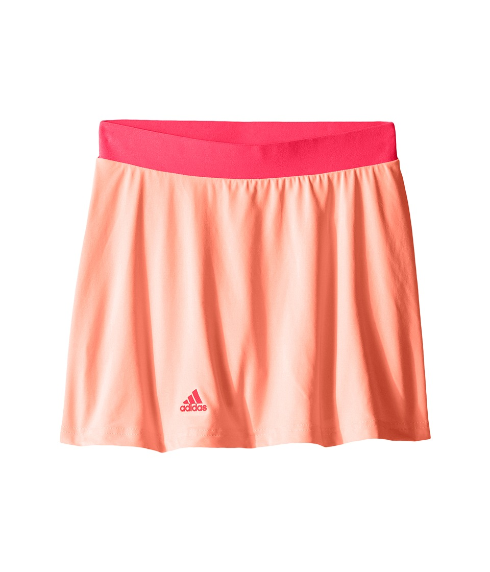 adidas Kids - Club Trend Skort (Little Kids/Big Kids) (Sun Glow/Shock Red) Girl's Skort