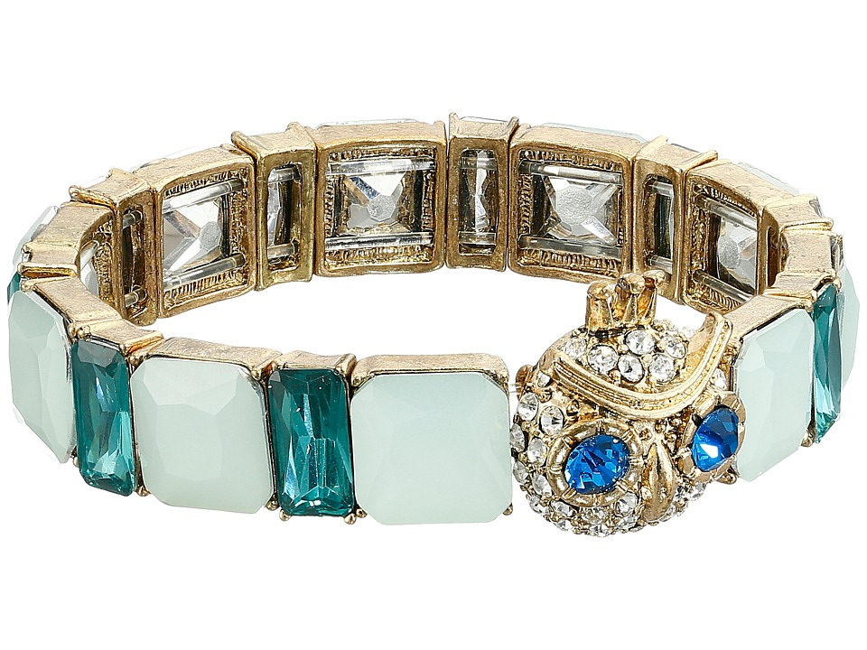 Betsey Johnson - Boxed Owl Stretch Bracelet (Blue) Bracelet