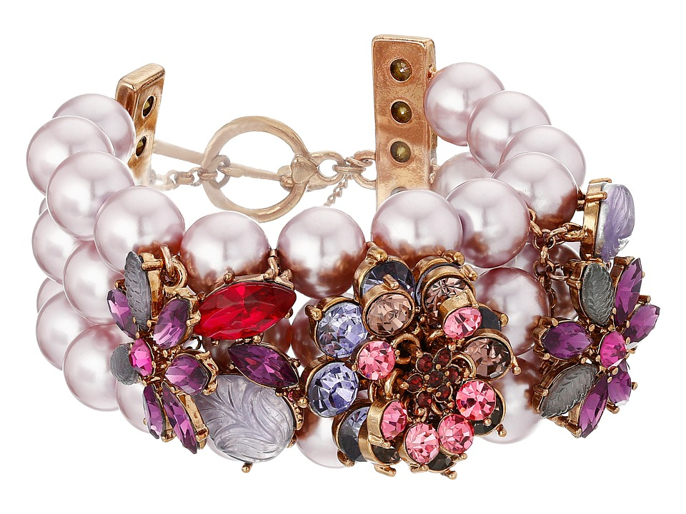 Betsey Johnson - Fall Follies Pearl Toggle Bracelet (Multi) Bracelet
