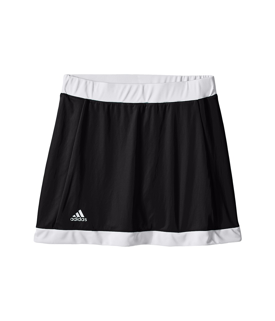 adidas Kids - Court Skort (Little Kids/Big Kids) (Black/White) Girl's Skort
