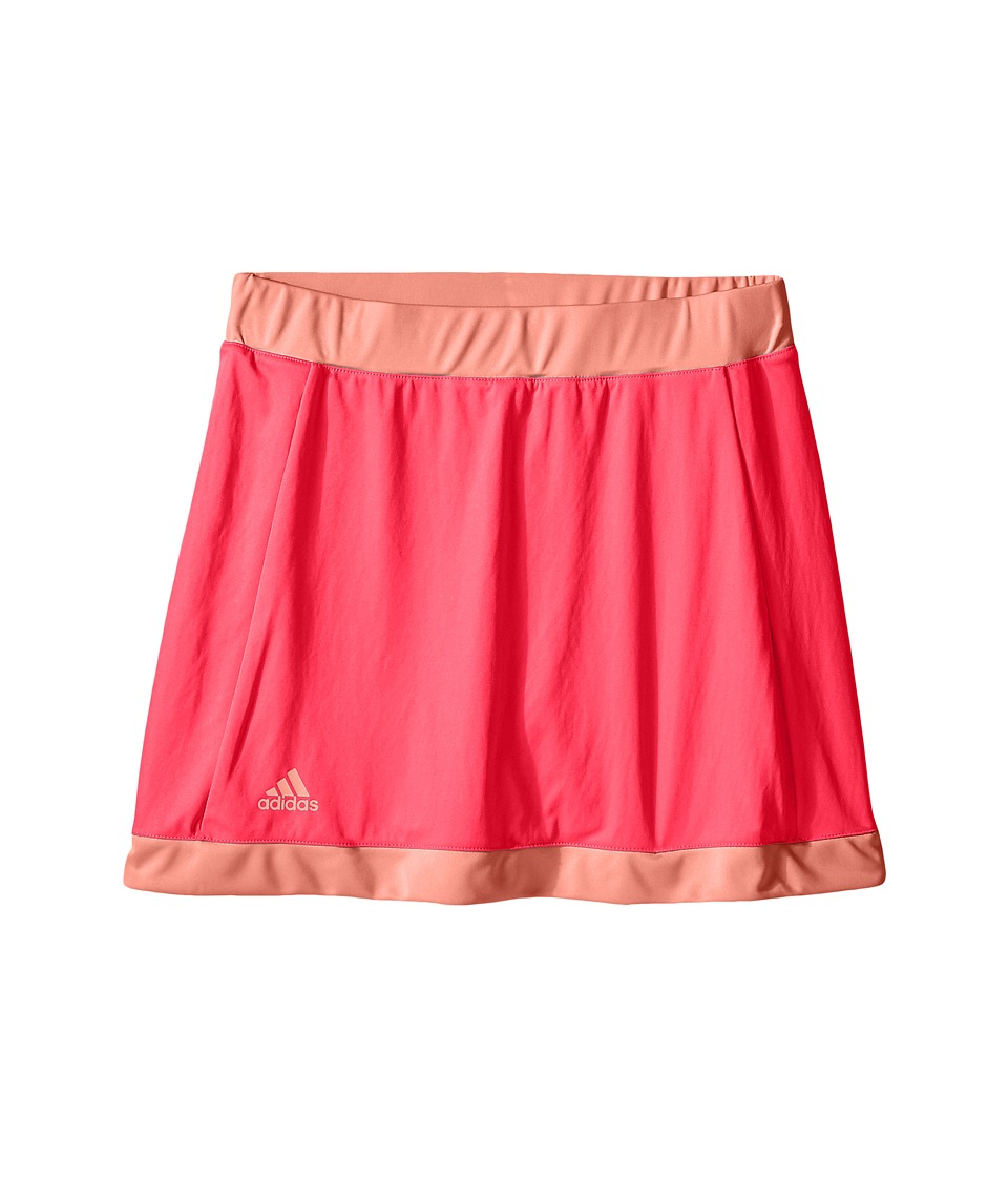 adidas Kids - Court Skort (Little Kids/Big Kids) (Shock Red/Sun Glow) Girl's Skort