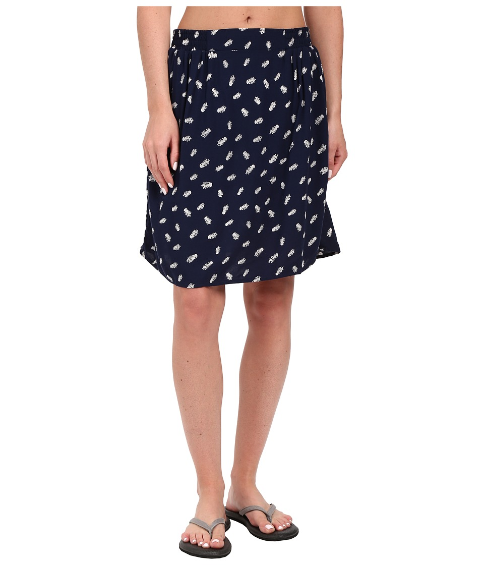 KAVU South Beach Skirt (Navy) Women
