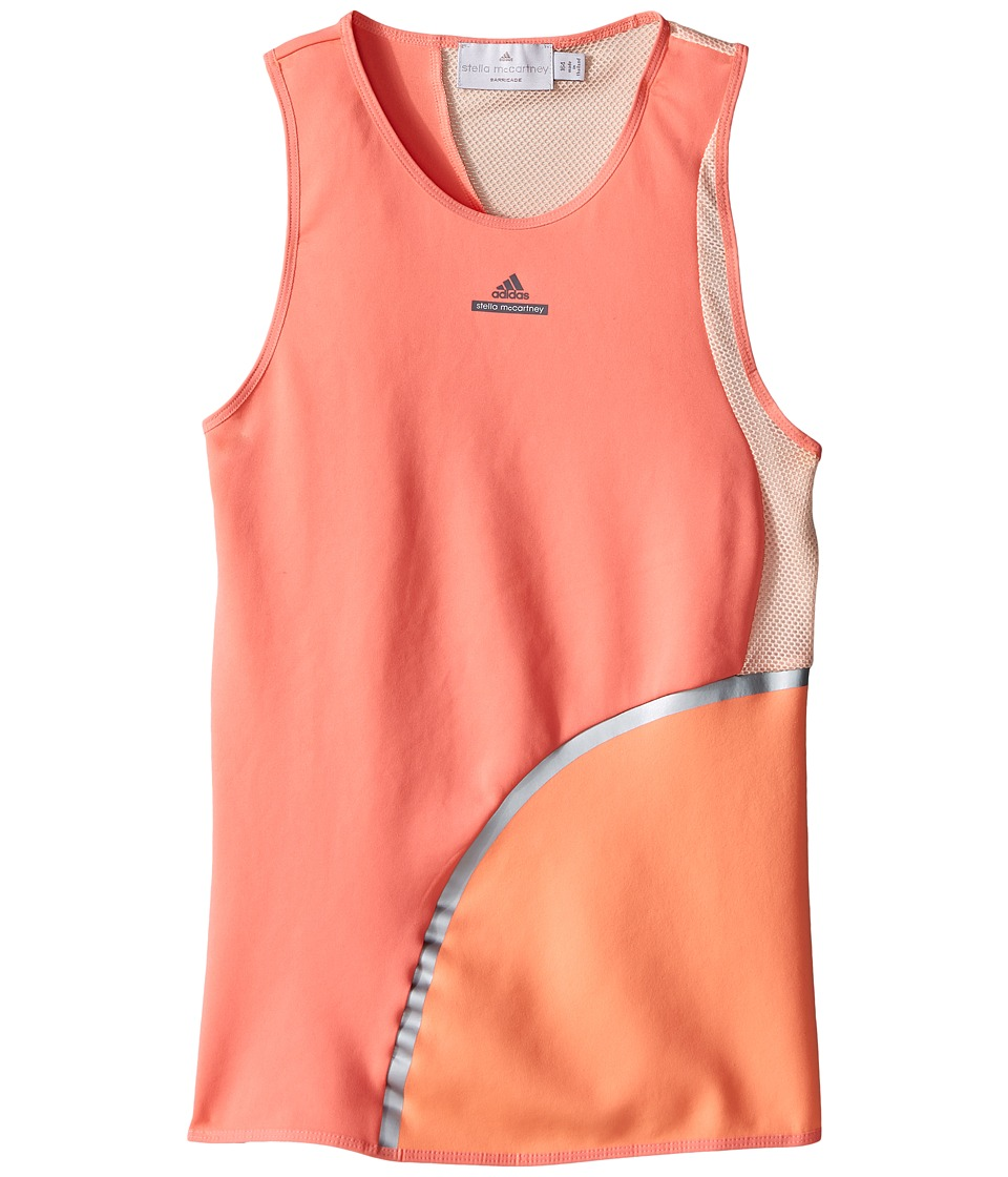 adidas Kids - Stella Tank Top (Little Kids/Big Kids) (Coral Pink/Semi Flash Orange) Girl's Sleeveless