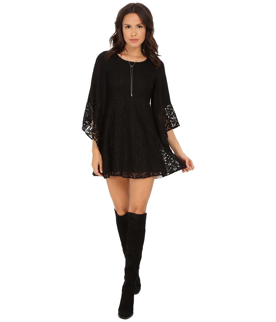 MINKPINK - Drive Me Crazy Flaresleeve Dress (Black) Women's Dress