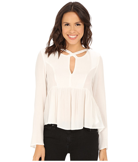 MINKPINK - Dynamite Cross Front Blouse (White) Women's Blouse