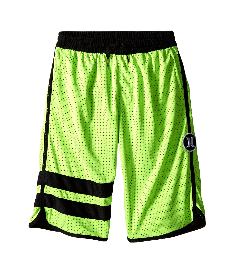 Hurley Kids - Block Party Mesh Shorts (Big Kids) (Flash Lime) Boy's Shorts