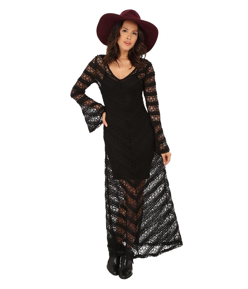 MINKPINK - Too Little Too Late Maxi Dress (Black) Women