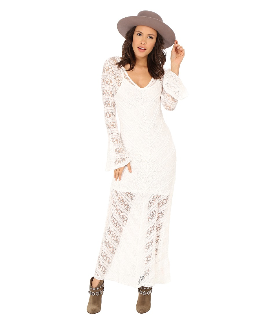MINKPINK - Too Little Too Late Maxi Dress (Cream) Women