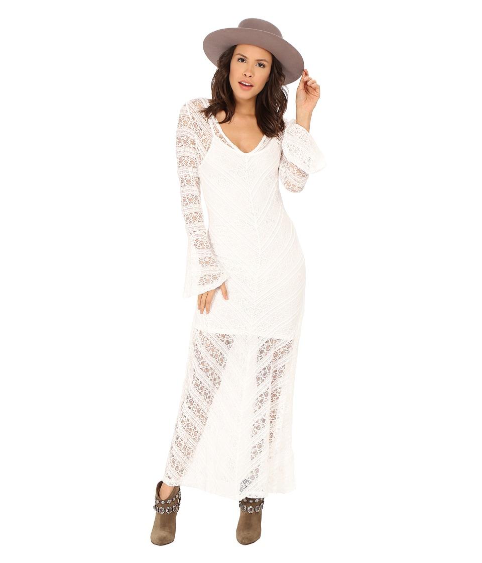 MINKPINK Too Little Too Late Maxi Dress (Cream) Women