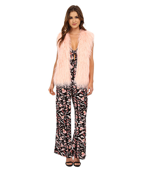 MINKPINK - Pretty in Pink Fur Vest (Pale Pink) Women