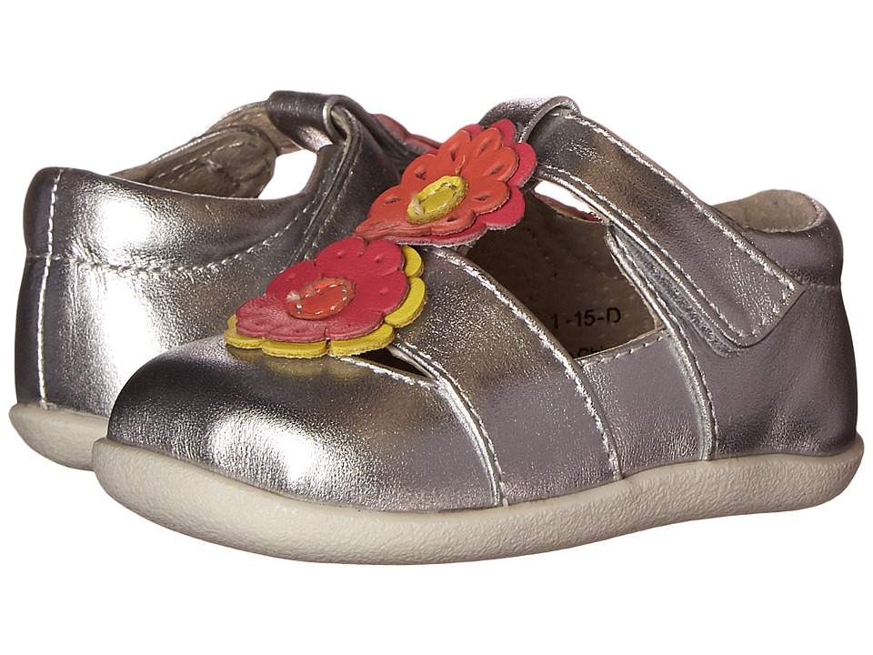 See Kai Run Kids - Ada (Infant/Toddler) (Silver) Girl's Shoes