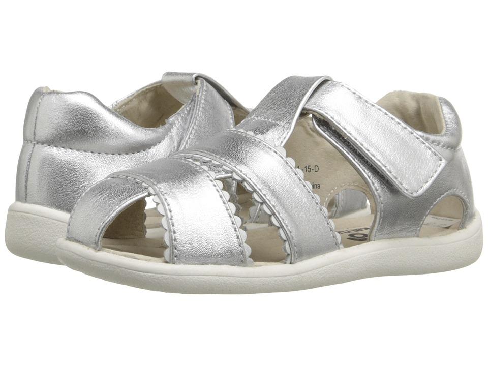 See Kai Run Kids - Gloria II (Toddler) (Silver) Girls Shoes
