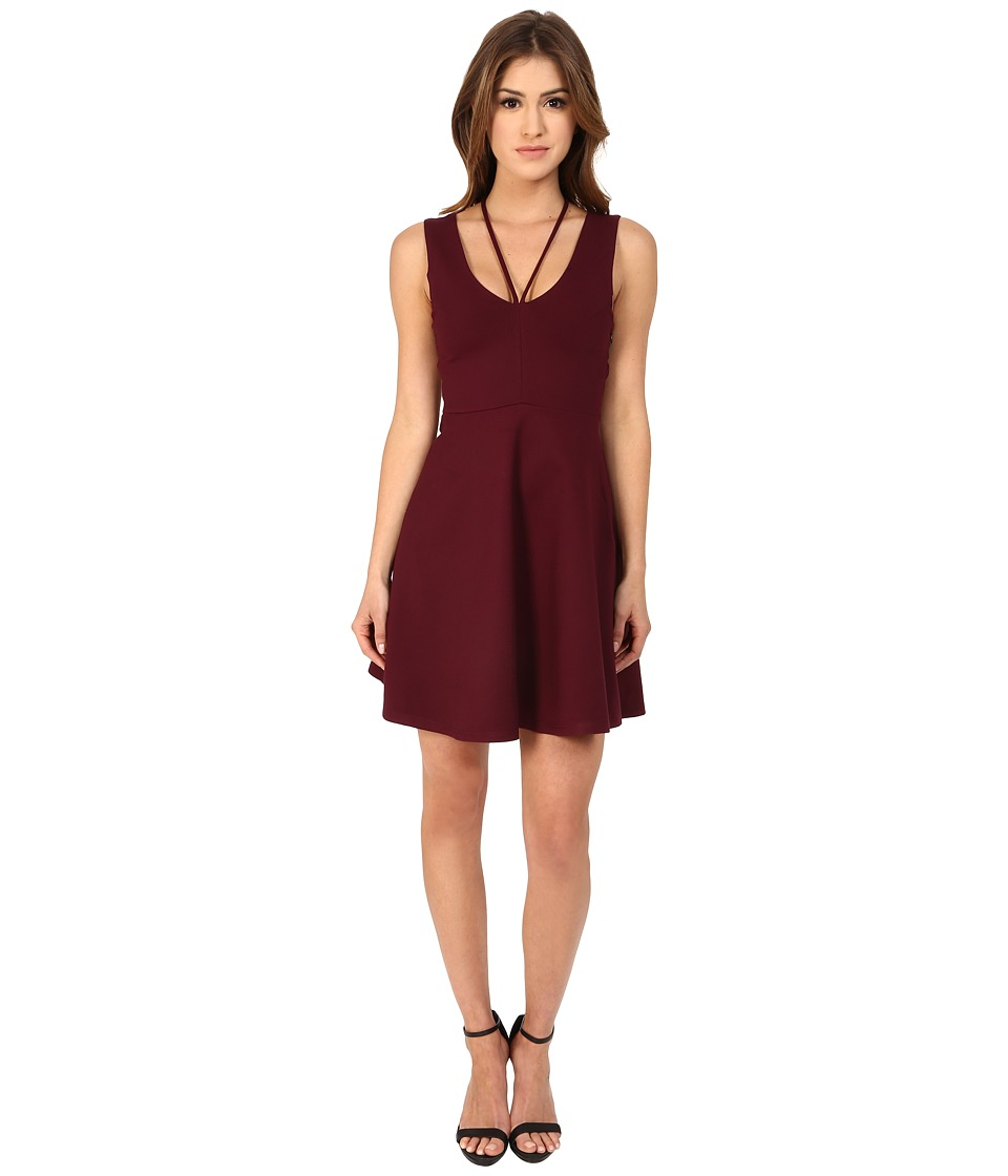 MINKPINK - All About It Fit and Flare Dress (Wine) Women's Dress