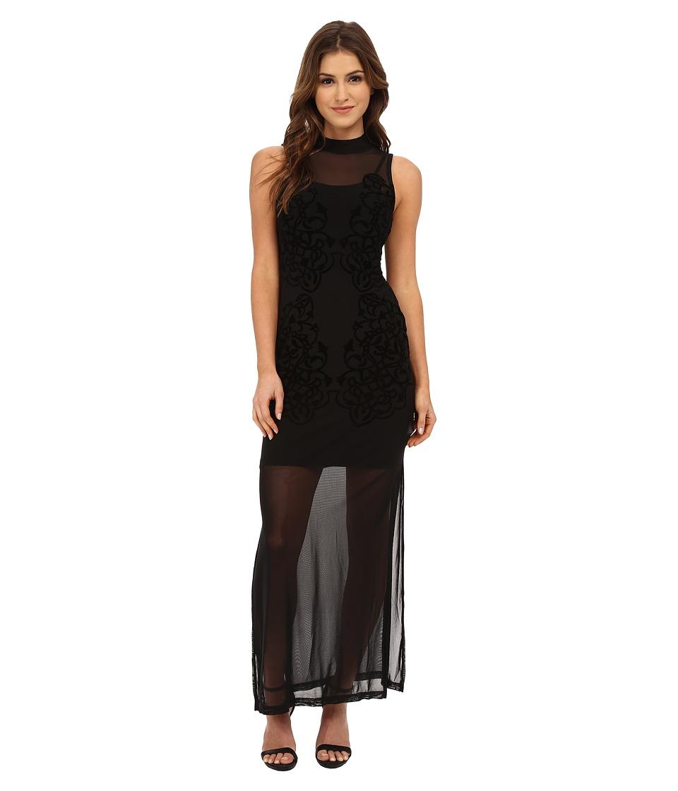 MINKPINK Meshed Up Maxi Dress (Black) Women