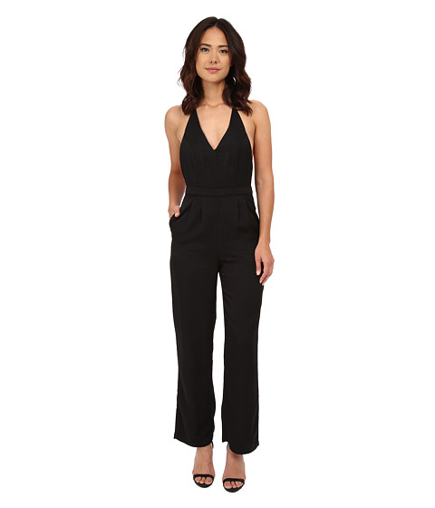 MINKPINK - Take Care Halter Jumpsuit (Black) Women's Jumpsuit & Rompers One Piece