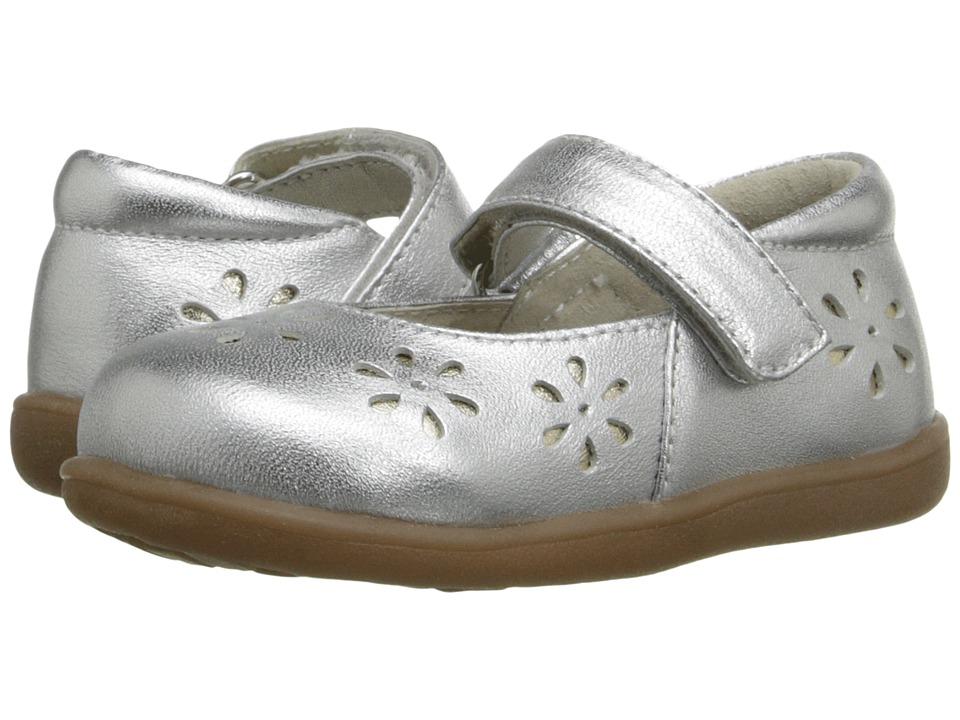 See Kai Run Kids - Sera (Toddler) (Silver) Girl's Shoes