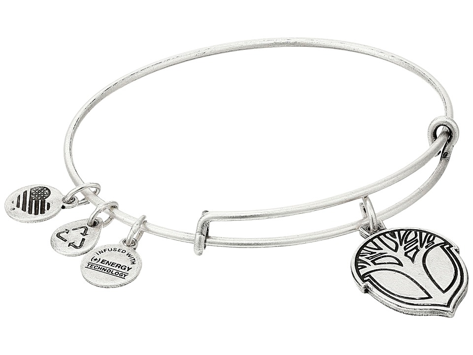 Alex and Ani - Unexpected Miracles Expandable Wire Bangle (Silver) Bracelet