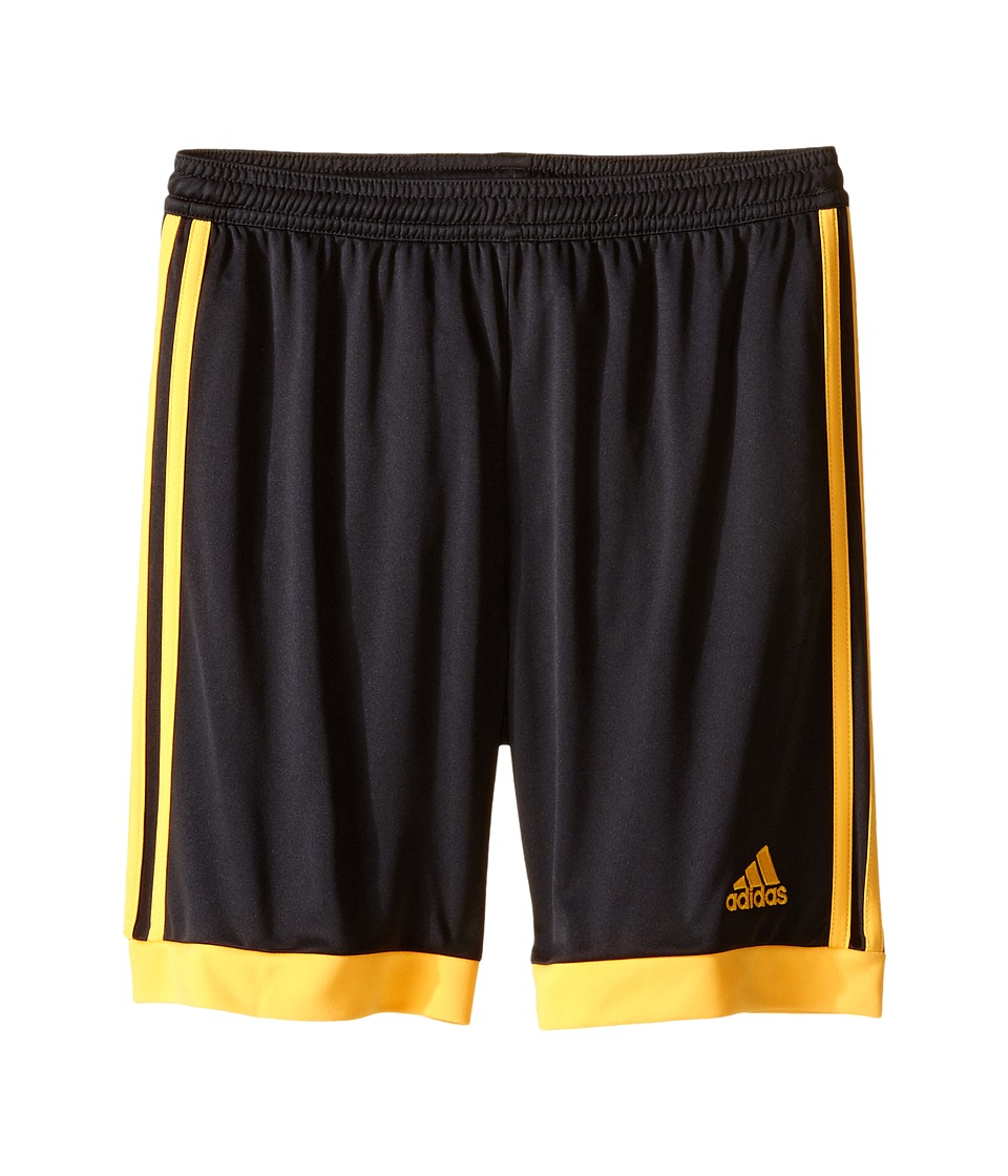 adidas Kids - Tastigo 15 Shorts (Little Kids/Big Kids) (Dark Grey/Solar Gold) Kid's Shorts