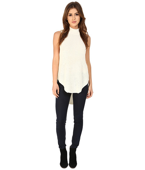 MINKPINK - Bitter Sweet Low Side Tunic (White) Women's Sweater