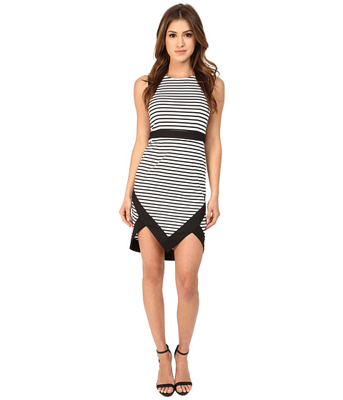 MINKPINK - Hide and Seek Mini Dress (Black/White) Women's Dress