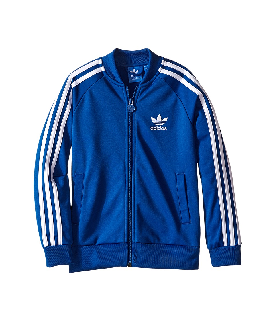 adidas Originals Kids - J Superstar Top (Toddler/Little Kids/Big Kids) (EQT Blue/White) Boy's Coat