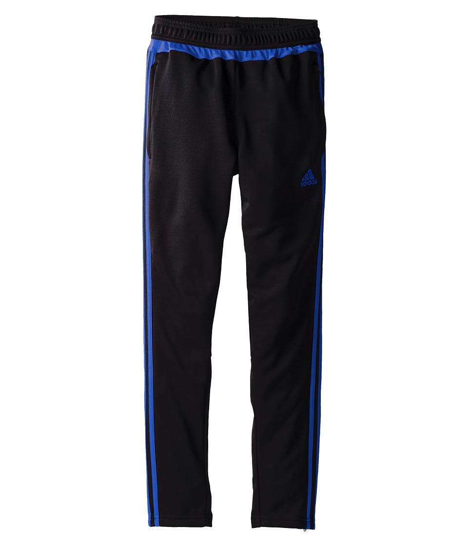 adidas Kids - Tiro 15 Training Pants (Little Kids/Big Kids) (Black/EQT Blue) Kid's Workout