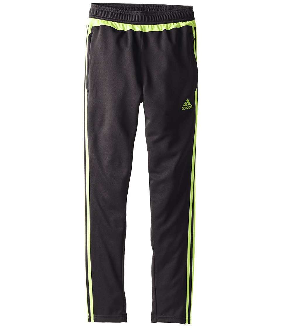 adidas Kids - Tiro 15 Training Pants (Little Kids/Big Kids) (Black/Semi Solar Slime) Kid's Workout