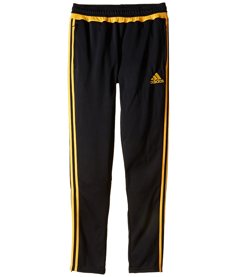 adidas Kids - Tiro 15 Training Pants (Little Kids/Big Kids) (Dark Grey/Solar Gold) Kid's Workout