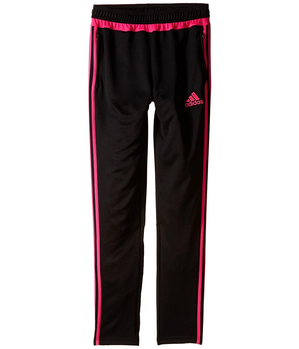 adidas Kids - Tiro 15 Training Pants (Little Kids/Big Kids) (Black/Shock Pink) Kid's Workout