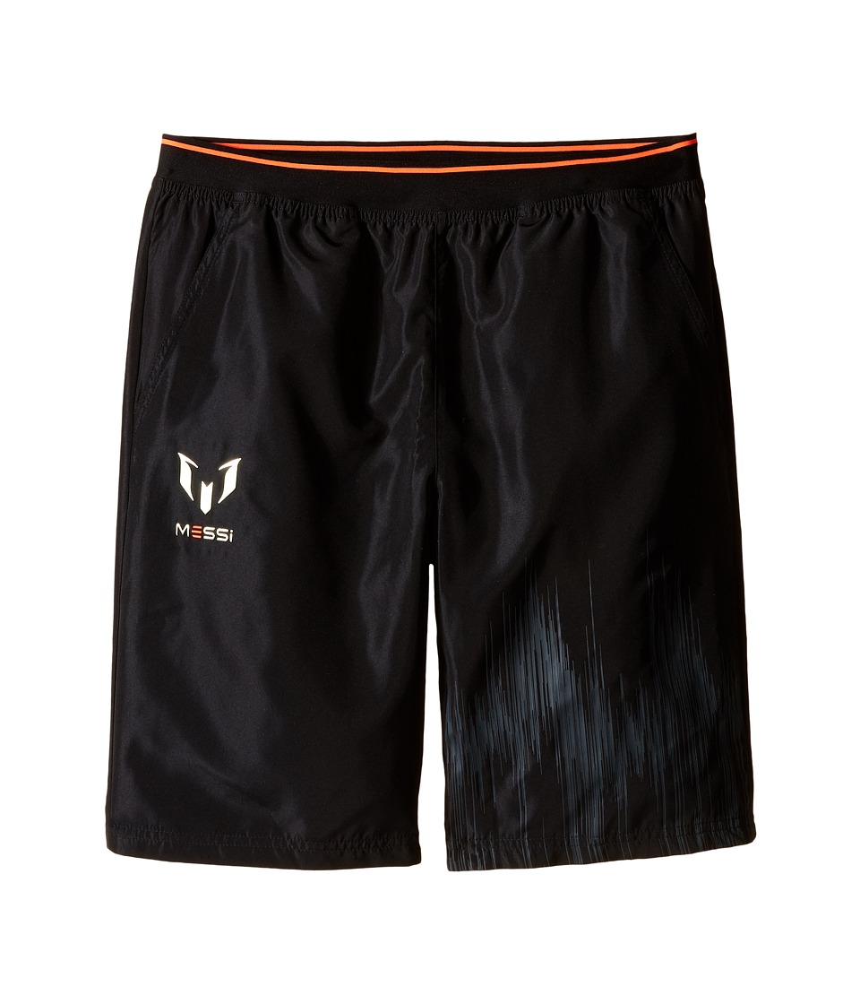 adidas Kids - Messi Woven Shorts (Little Kids/Big Kids) (Black/Solar Red) Kid's Shorts