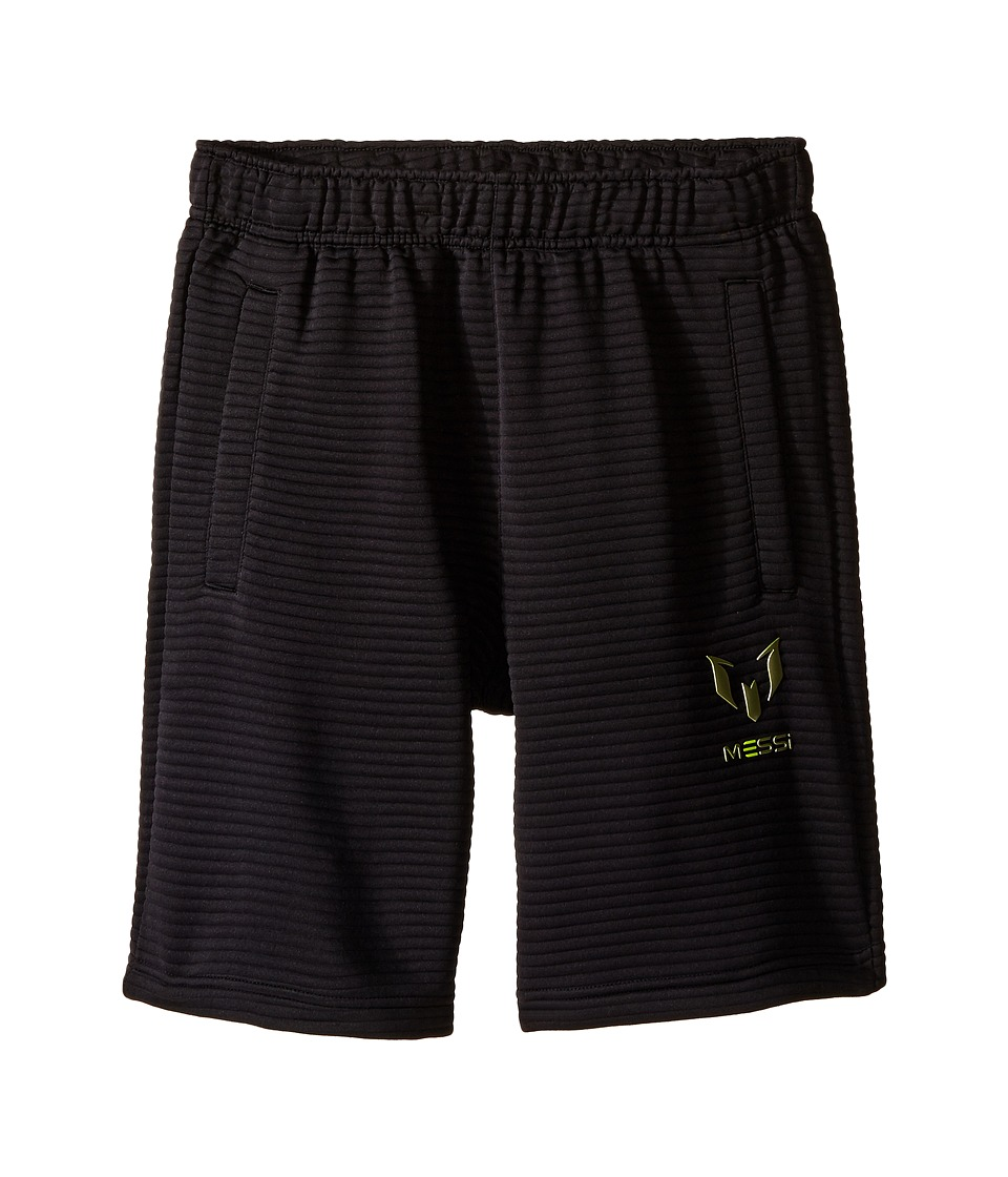 adidas Kids - Messi Shorts (Little Kids/Big Kids) (Black/Black) Kid's Shorts