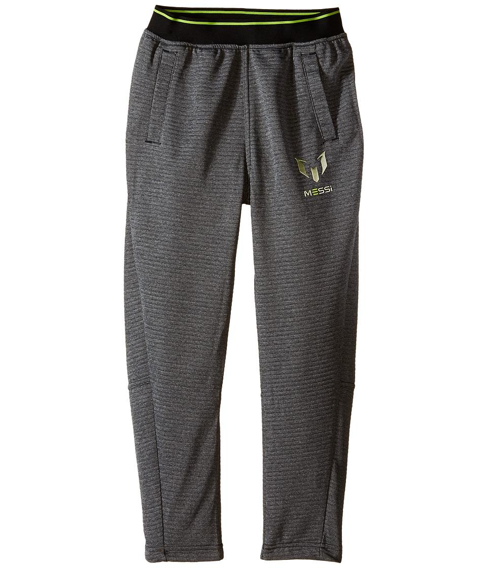 adidas Kids - Messi Pants (Little Kids/Big Kids) (Black/Solar Lime) Kid's Casual Pants