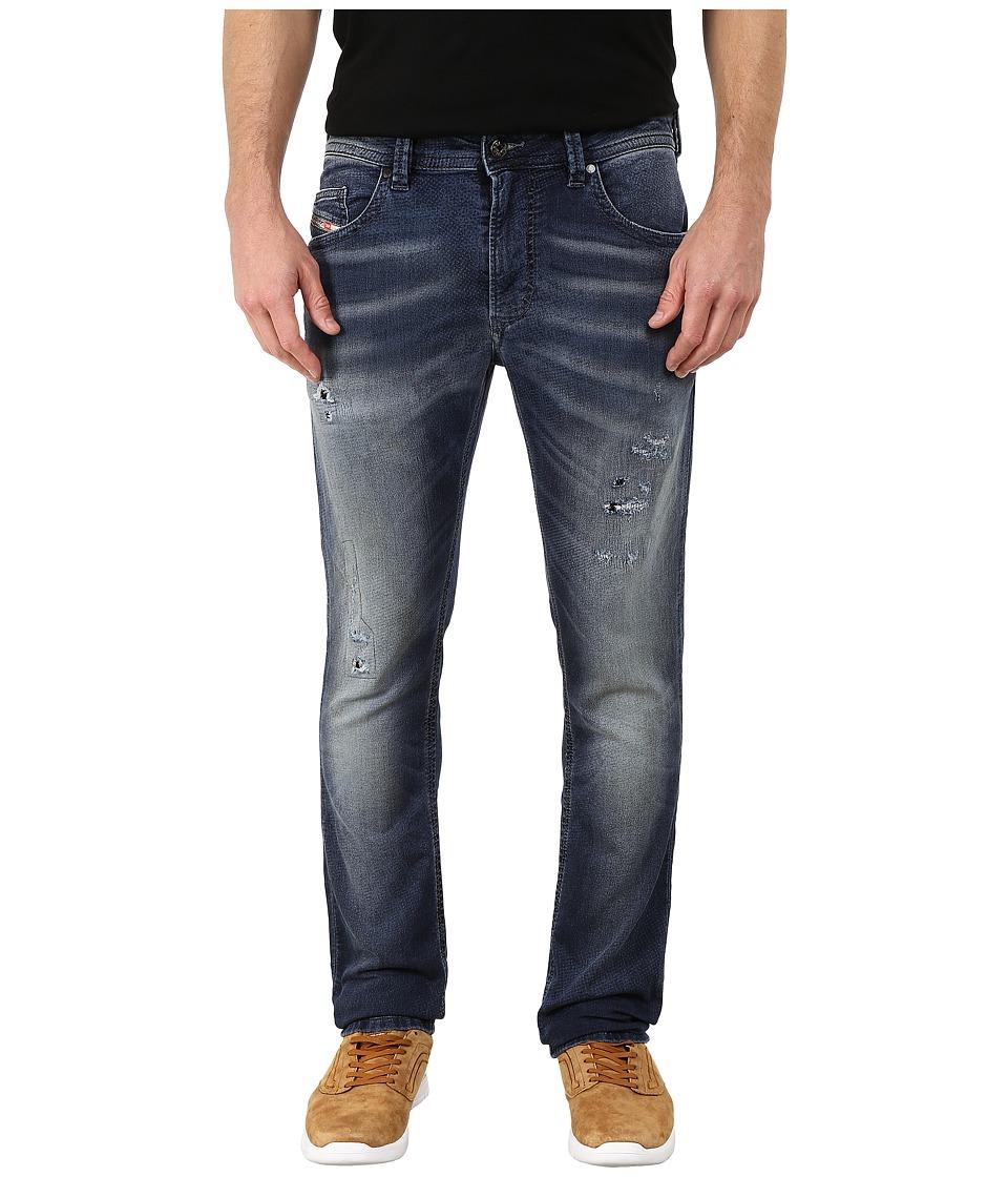Diesel - Thavar-Ne Sweat Jeans in Denim 666W (Denim) Men's Jeans