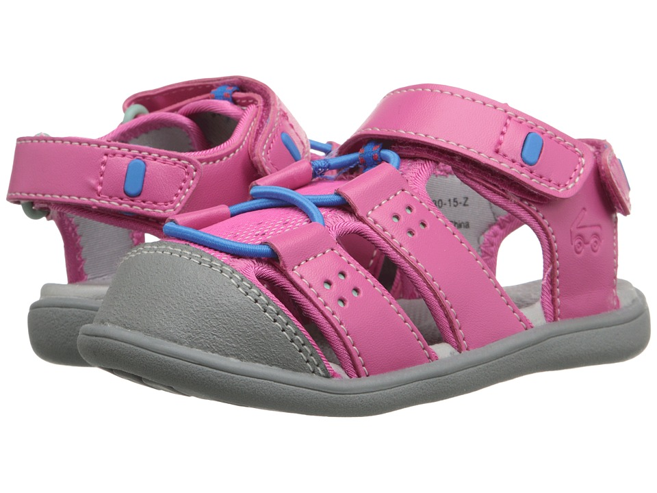 See Kai Run Kids - Lincoln (Toddler) (Hot Pink) Girl's Shoes