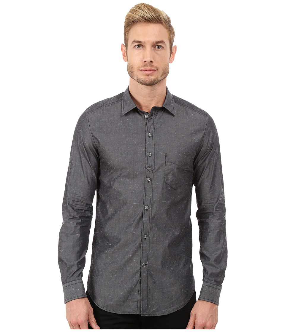 Diesel - S-Nami Shirt (Grey) Men's Long Sleeve Button Up