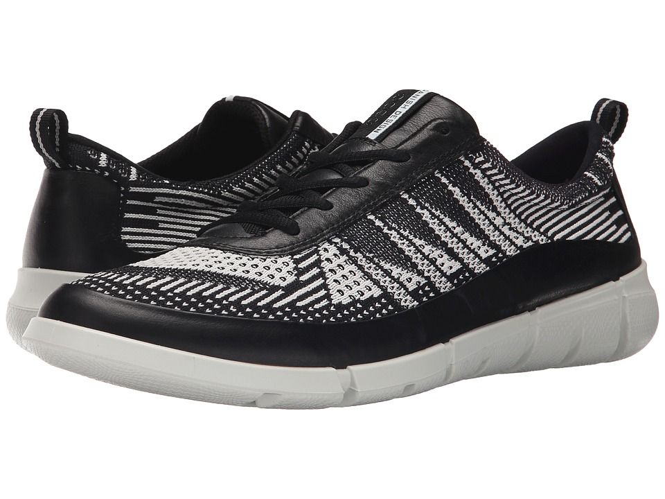 ECCO Sport - Intrinsic Knit (Black/White) Men's Shoes
