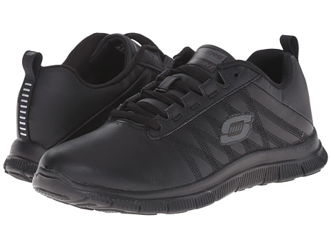 SKECHERS - Flex Appeal - Pure Tone (Black) Women's Lace up casual Shoes