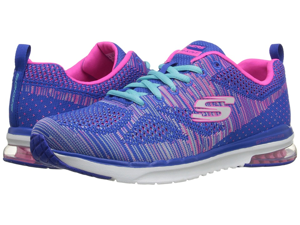 SKECHERS - Skech - Air Infinity (Blue/Hot Pink) Women's Lace up casual Shoes