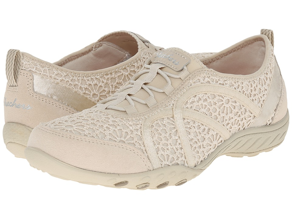SKECHERS - Breathe - Easy - Meadows (Natural) Women's Lace up casual Shoes