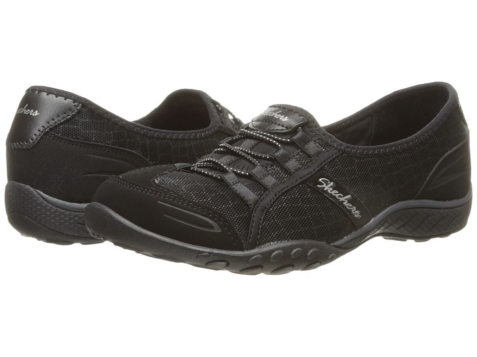 SKECHERS - Breathe - Easy - Spectacular (Black) Women's Lace up casual Shoes