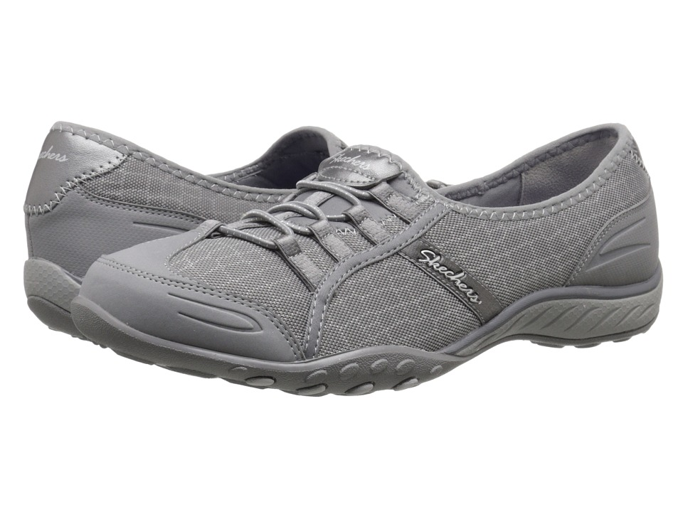 SKECHERS - Breathe - Easy - Spectacular (Gray) Women's Lace up casual Shoes