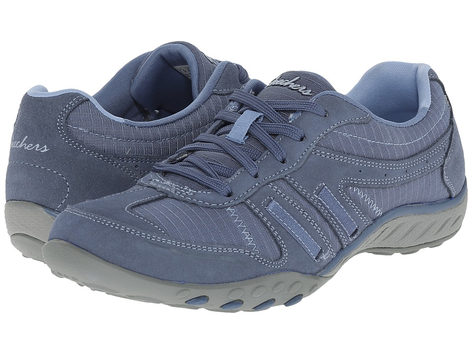 SKECHERS - Breathe - Easy Again (Blue) Women's Lace up casual Shoes