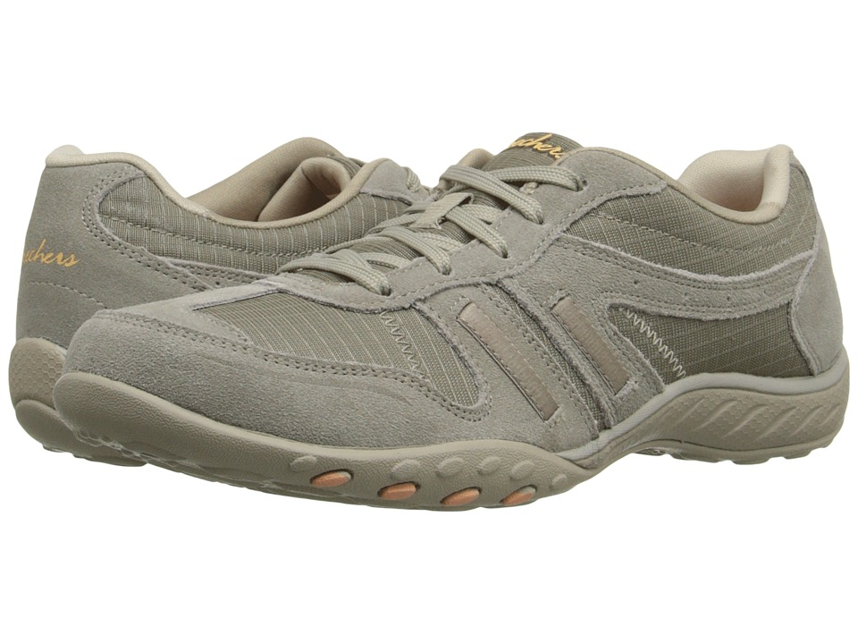SKECHERS - Breathe - Easy Again (Taupe) Women's Lace up casual Shoes