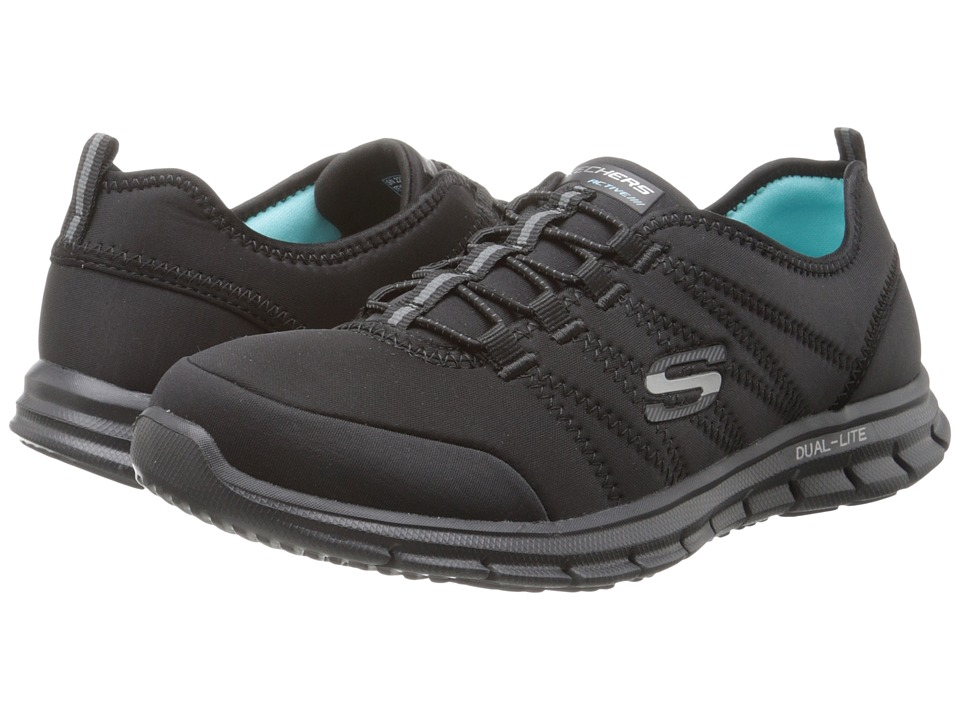 SKECHERS - Glider - Electricity (Black) Women's Lace up casual Shoes