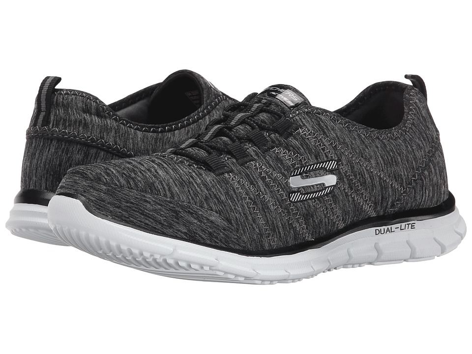 SKECHERS - Glider - Electricity (Black/White) Women's Lace up casual Shoes